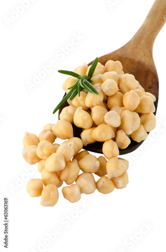 chickpeas over spoon