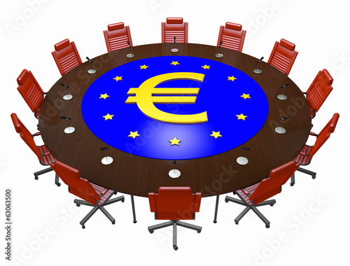 European union round table 3d