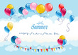 Festive summer background with balloons
