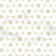 Seamless pattern of white circles on beige paper