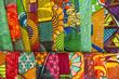 Leinwandbild Motiv African fabrics from Ghana, West Africa