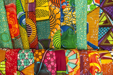 African fabrics from Ghana, West Africa