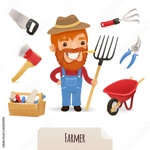 Farmer Icons Set