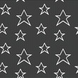 Lace seamless pattern with stars. Vector mesh.