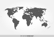 Detailed world map in dark gray color