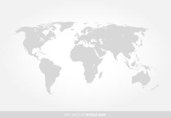 Light gray detailed world map