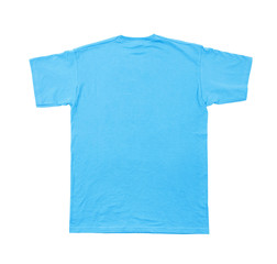 t-shirt back isolated on white background