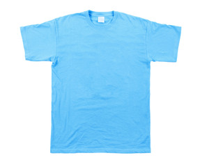 blue tshirt template ready for your own graphics.