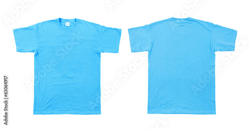 Men's blue T-shirt. Isolated on a white background.
