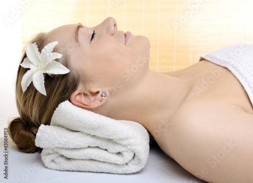 Entspannung bei Massage und Spa