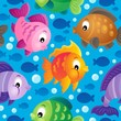 Fish theme seamless background 2