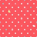 Easter polka dot seamless vintage pattern in red color.