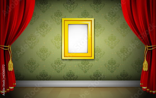 Photo Frame on Wallpaper
