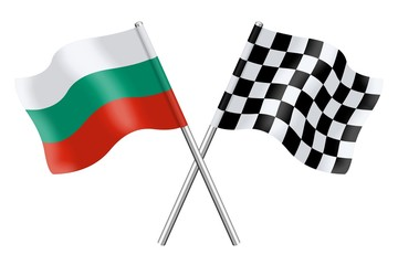 Flags : Bulgaria and checkerboard
