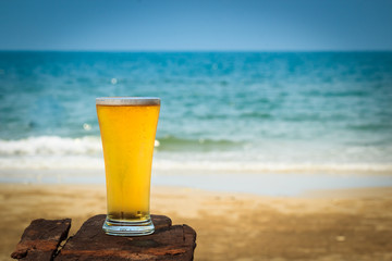 Cold beer on beach