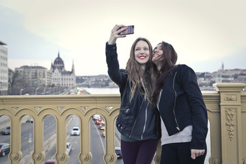 taking a selfie