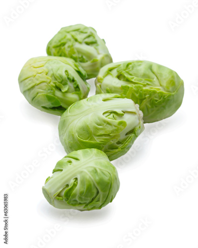 Five brussels sprouts