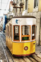 Bica funicular in Lisbon, Portugal