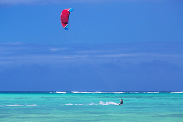 Kitesurfing in the Caribbean Sea