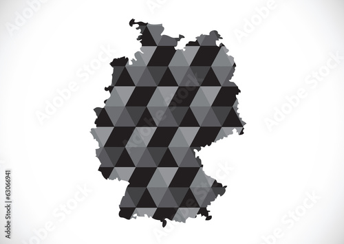 Germany map and flag idea design