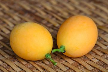 Sweet yellow Marian plum ,Plum mango, thailand