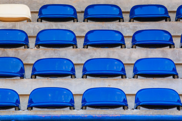 Row of Grandstand chairs