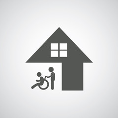 disabled care sign