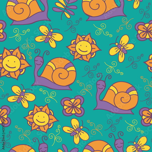 Colorful background. Seamless texture. Vector art