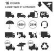 icônes logistique et livraison