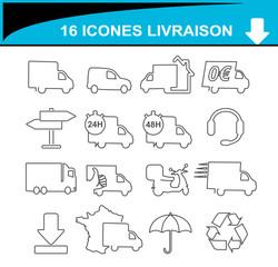 icônes livraison