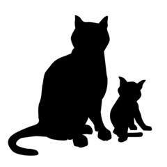 Cat & Kitten-vector