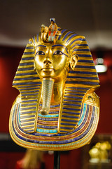 Burial mask of the egyptian pharaoh Tutankhamun