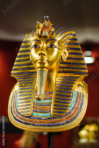 Leinwandbild Motiv Burial mask of the egyptian pharaoh Tutankhamun