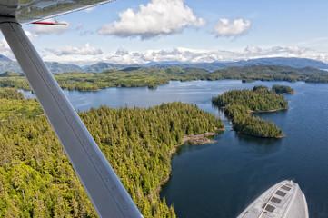 Alaska Prince of Wales island aerial view from floatplane