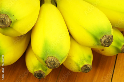 Close up ripe banana