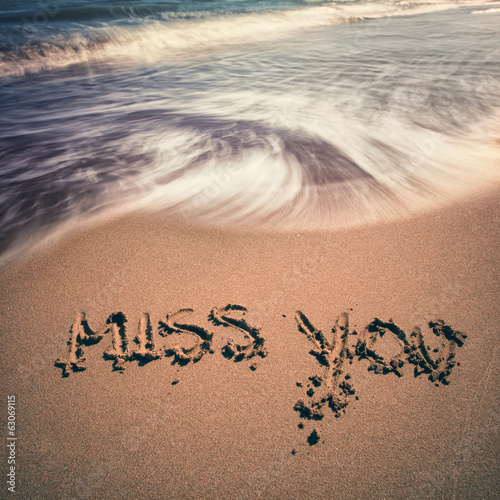 Vintage miss you sign