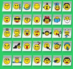 Smiles on stickers