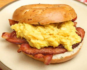 Bagel with Bacon & Scrambled Eggs
