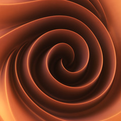 Chocolate cream spiral swirl