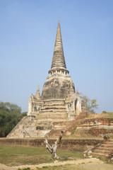 Chedi Wat Phra Si Sanphet. The Ayutthaya