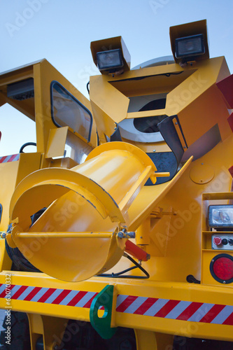 detail of a concrete mixer truck