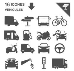 icônes véhicules