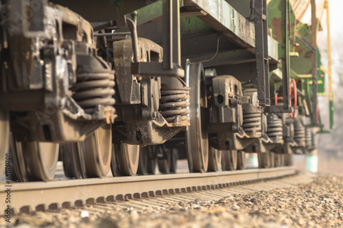 Wheel pairs of trains in motion