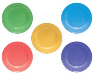 Plates set, isolated. Illustration