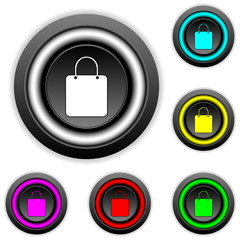 Shopping bag buttons set