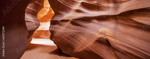 Panoramic view of the famous Antelope Canyon