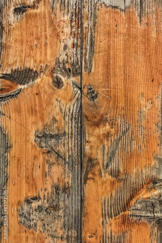 Old Weathered White Pine Planks Knotted Surface Texture - Detail