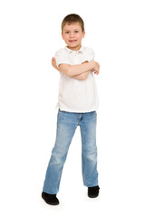 boy portrait in studio isolated