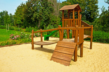 Playground with sand