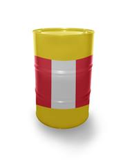 Barrel with Peruvian flag